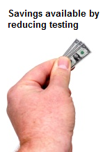 Savings from Test Elimination